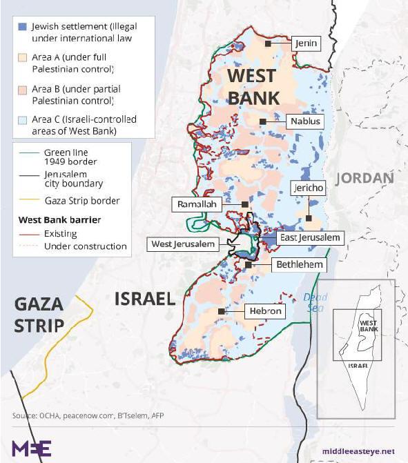 Nahost Karte.Karten Zum Nahostkonflikt Palästina Israel 3