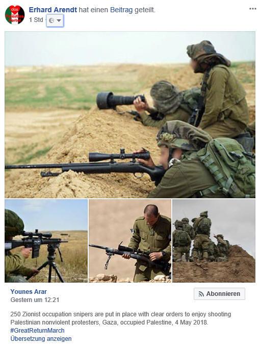 Friedlicher Widerstand - Palästina