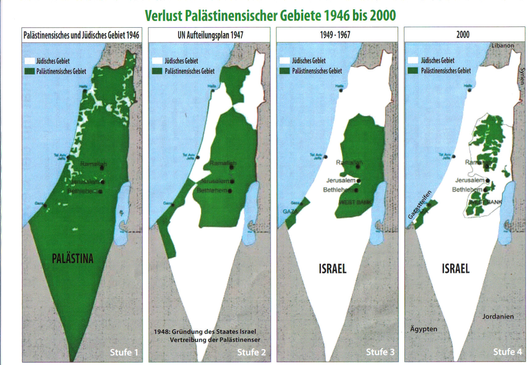 Jerusalem Karte Heute.Karten Zum Nahostkonflikt Palastina Israel