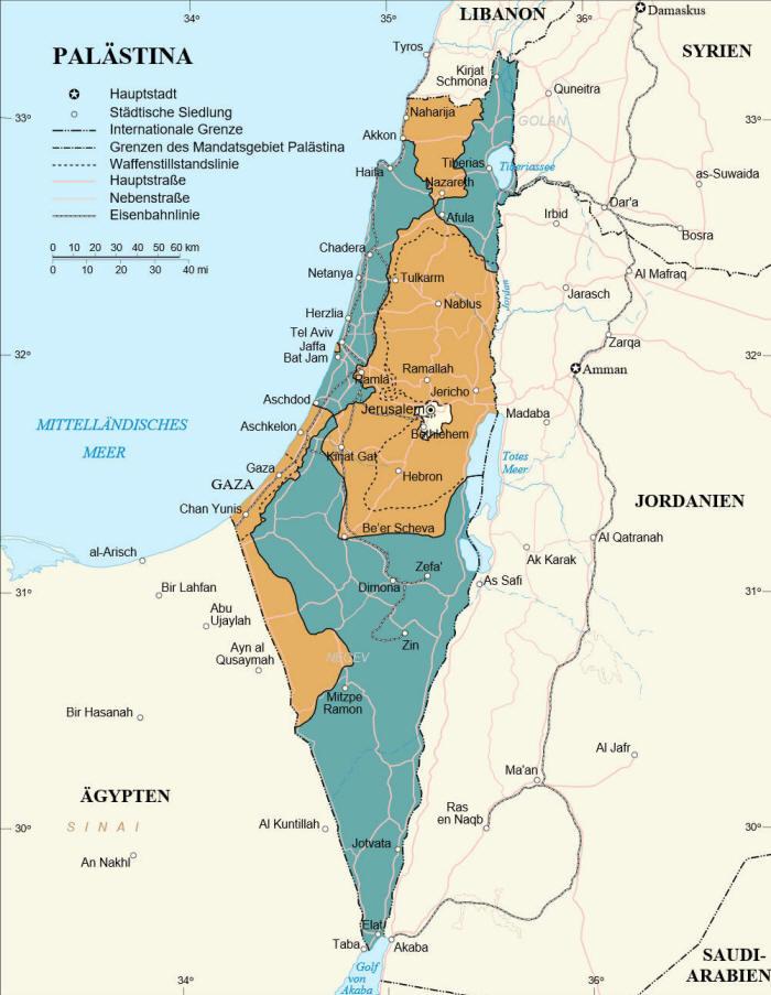 Nahostkonflikt Karte